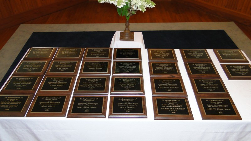 Retiree Reception Honorees