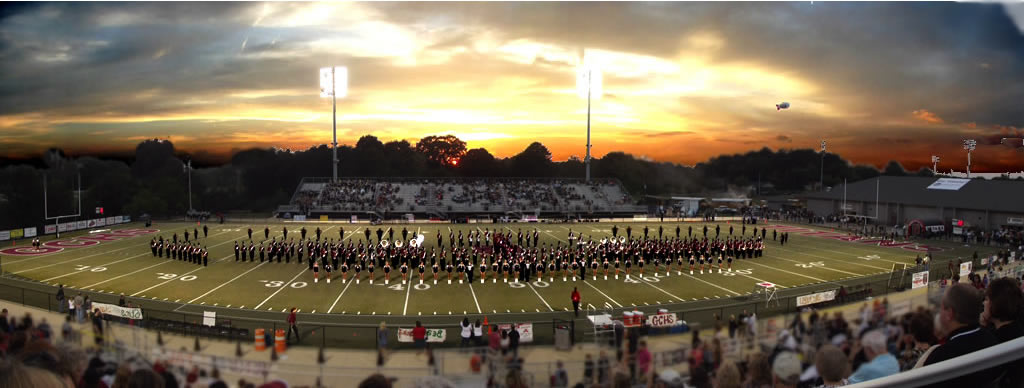 Gadsden City High School Band on the Field