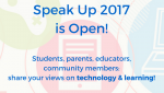 Speak Up 2017
