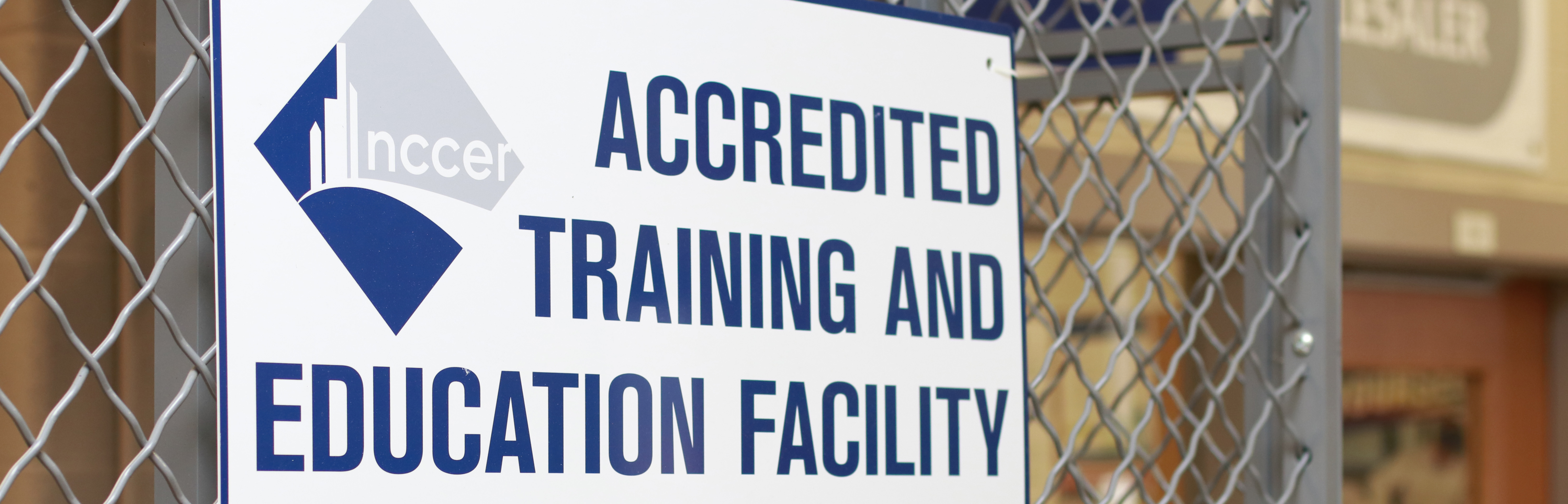 NCCER Accredited Training Site Sign